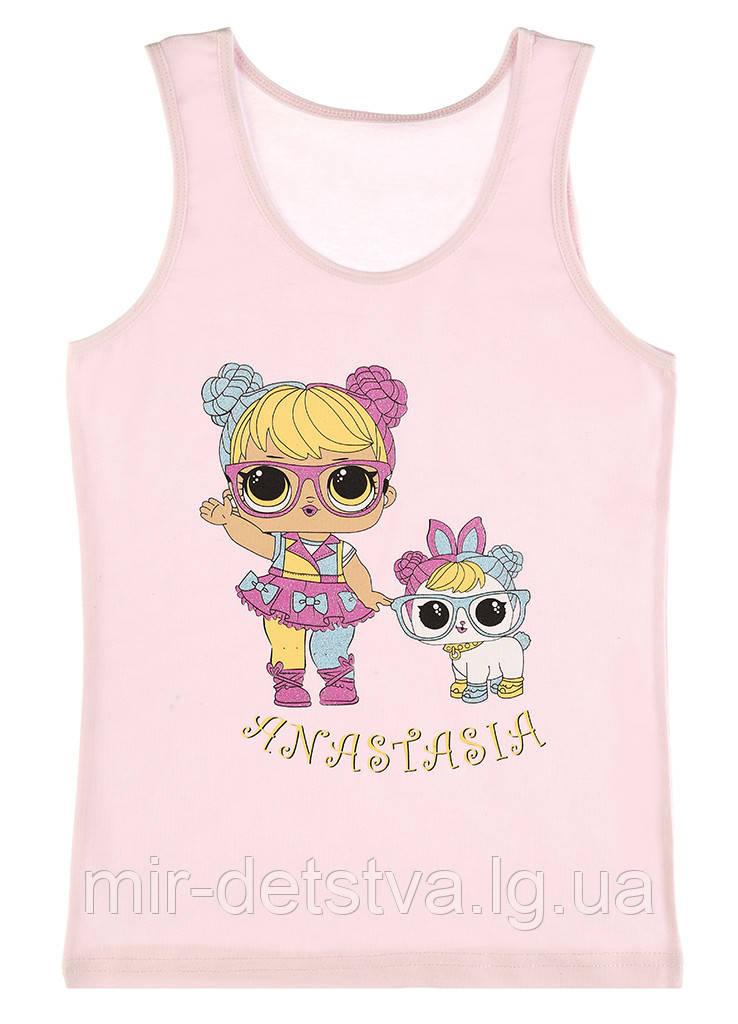 Майки детские для девочек ТМ Donella оптом р.4/5 лет (110-116 см)