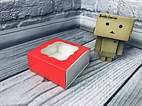 *50 шт* / Коробка для пряников / 80х80х35 мм / печать-Красн / окно-обычн, фото 1