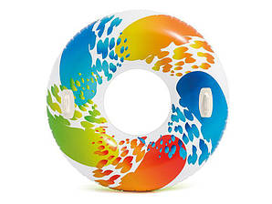 Надувной круг с ручками «Color Whirl Tube» Intex, 119см.
