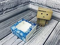 *50 шт* / Коробка для пряников / 80х80х35 мм / печать-Снег.Син / окно-обычн / НГ, фото 1