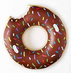 Надувной круг Пончик с ручками, 60 см.