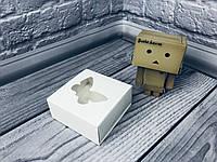 Коробка для пряников / 80х80х35 мм / Белая / окно-Бабочка, фото 1