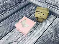 Коробка для пряников / 80х80х35 мм / печать-Пудра / окно-Бабочка, фото 1