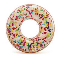 Надувной круг Пончик Intex 114 см.