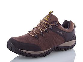 Туристические кроссовки Restime замшевые коричневые
