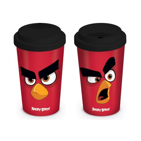 Эко кружка для путешествий (с крышкой) Angry Birds (Red)