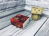 Коробка для пряников / 80х80х35 мм / печать-Снег.Красн / б.о. / НГ, фото 1