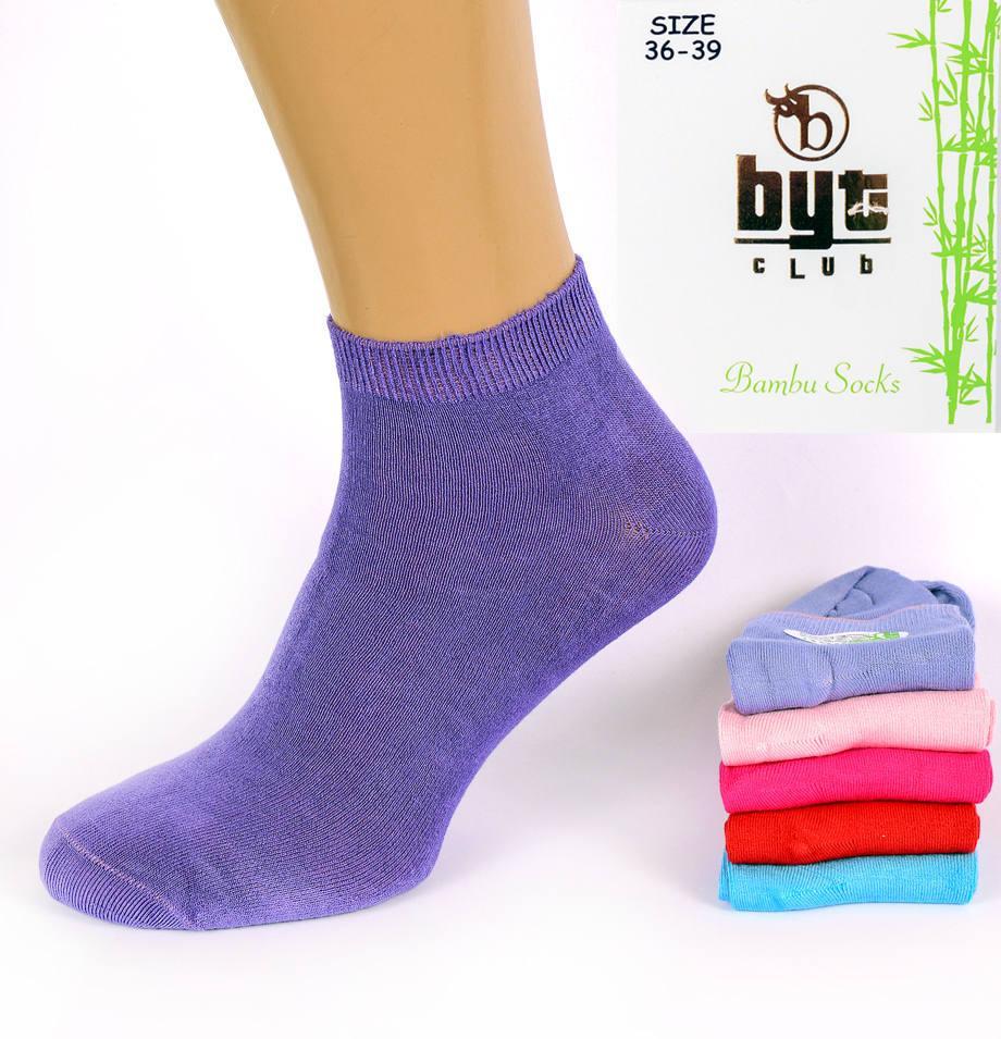 Носки женские короткие Byt Club BL01. Размер 36-39. В упаковке 12 пар. Турция.