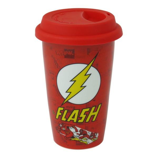 Эко кружка для путешествий (с крышкой) Dc Comics (the flash)
