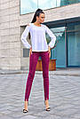 Женские брюки из эко-замша марсала молодёжные повседневные элегантные, фото 2