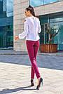 Женские брюки из эко-замша марсала молодёжные повседневные элегантные, фото 5