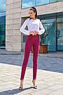 Женские брюки из эко-замша марсала молодёжные повседневные элегантные, фото 4
