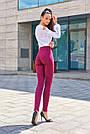 Женские брюки из эко-замша марсала молодёжные повседневные элегантные, фото 6