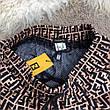 Мужские плавательные шорты Fendi FF Logo Bronzo/Black, фото 4