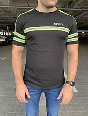 Мужская футболка Alpha Industries Nasa Logo Reflective Black, фото 3