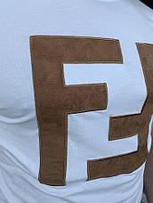 Мужская футболка Fendi Double F White, фото 3