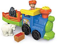 Музыкальный паровозик зоопарк на англ. языке Fisher Price Little People Choo-Choo Zoo Train