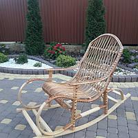 Плетеное кресло-качалка букова