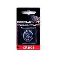 Литиевая батарейка Bossman типа таблетка CR2025 (000520)
