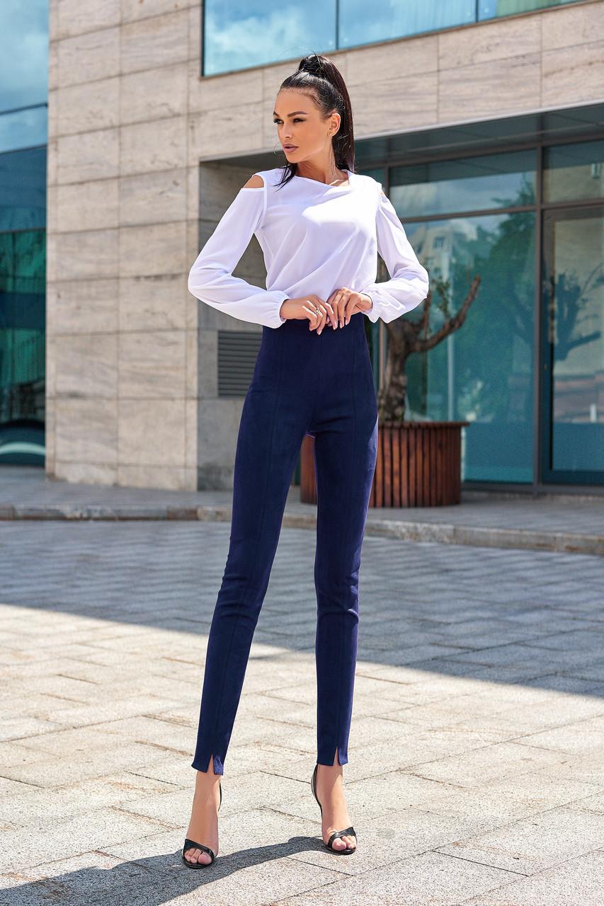 Брюки жііночі модні сині штани молодіжні повсякденні елегантні