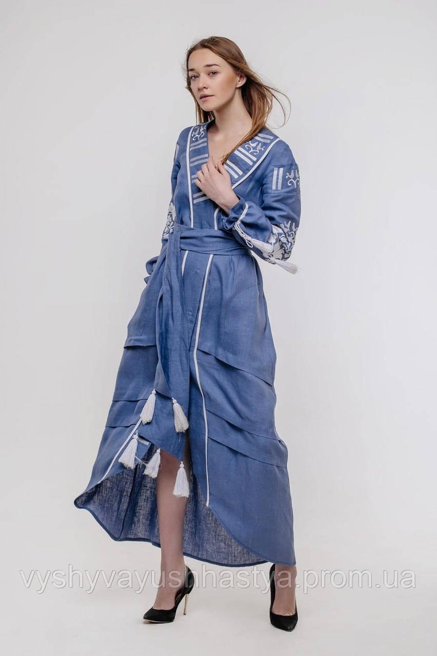 """Вышитое современное платье """"Атамаша"""" в бохо-стиле. Лён. Парные вышиванки.."""