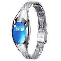 Фитнес-браслет женский z18 smart band silver с измерением давления