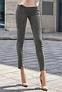 Молодёжные серые брюки эко-замша повседневные элегантные, фото 2