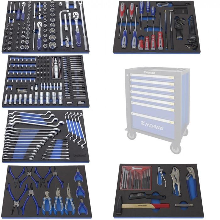 Набор инструмента для телег, 301 предмет ANDRMAX