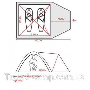 Палатка туристическая  двухместная  Green Camp 3006 (двухслойная), фото 2