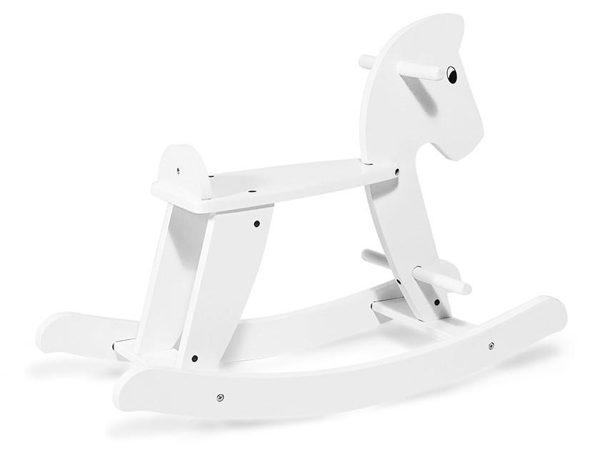 Деревянная лошадка-качалка Sapphire (белая)