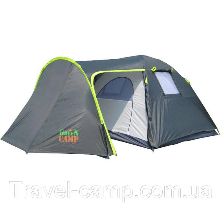 Палатка туристическая четырёхместная Green Camp