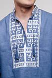 """Модная современная льняная мужская вышиванка """"Атаман"""". Парные вышитые комплекты., фото 2"""
