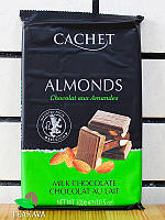 Шоколад молочный с миндалём Cachet Milk Chocolate Almonds 32%, 300 г, фото 1