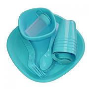 Посуда пластиковая MHZ набор для пикника 36 предметов на 4 персоны R86498 Blue (007509)