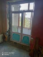 Балконные двери Киев ул. Строителей 36 - монтажная бригада 4