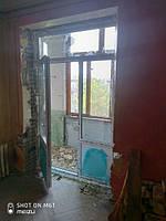 Пластиковые балконные двери в Киеве на ул. Строителей 36 - фото бригады 4