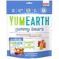 Жевательные мишки,  5 пакетиков, 99 г, ассорти вкусов, YumEarth, Gummy Bears