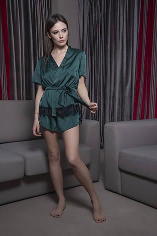 b2b6b99cb23f Шелковый пижамный комплект жакет с кружевом и шортики: продажа, цена ...