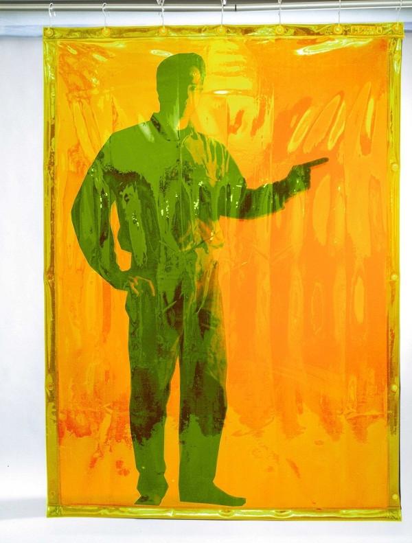 Полупрозрачная желтая защитная штора Cepro Yellow 2000х1400х0.4