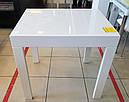 Стол обеденный Слайдер белый со стеклом(ультрабелый),100(+100)*82см, фото 3
