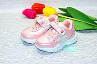Детские кроссовки для девочек с мигалками, фото 1