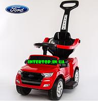 Детский электромобиль 5в1 ,каталка-толокар,Ford Ranger машина с родительской ручкой, M 3575 EL-3 красный