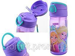 "Набор ""Frozen (Фроузен - холодное сердце)"".  Ланч бокс (ланчбокс) + бутылка с трубочкой, фото 3"