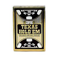 Карты для игры в покер Cartamundi Copag Texas Hold Em Черные krut06941, КОД: 258455