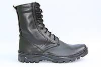 Тактические ботинки берцы из натуральной кожи SB черная РЕЗ