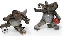 Набор 2 статуэтки Bona Слоны футболисты 14 см Серый psgBD-3400154, КОД: 944367