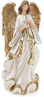 Фигура декоративная Bona Золотой Ангел с флейтой 38 см Бело-золотистый psgBD-837-208, КОД: 944414