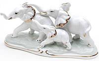 Статуэтка декоративная Bona Слоники 18 см Бело-золотистый psgBD-570-E11, КОД: 944844