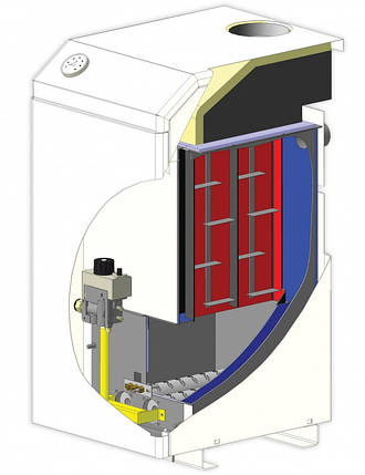 Котёл газовый МАЯК АОГВ-25 кВт КСВС с атмосферной горелкой, фото 2