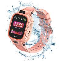 Детские водонепроницаемые смарт-часы с GPS JETIX DF45 (WiFi + Anti Lost Edition) Coral